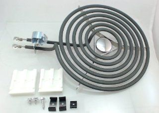 """Replacement Top Surface Burner, 8"""", for General Electric, Hotpoint, WB30X348: Home Improvement"""