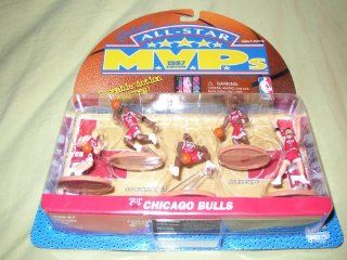 Chicago Bulls 1997 All star Mvps Poseable Action Figure 5 pack: Toys & Games