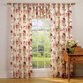 "Waverly Garden Room Vintage Rose Tab Top Valance (60x17"")   Window Treatment Valances"