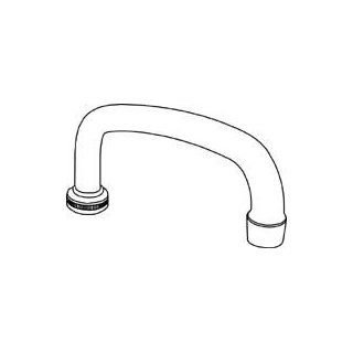 Central Brass SU 363 RA Spout 8 Inch Tube With Aerator Chrome Plated, Chrome: Home Improvement