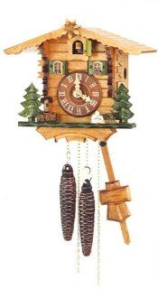 Cuckoo Clock with Edelweiss and One Day Movement 7.5 Inch