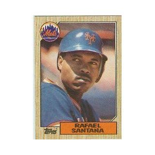 1987 Topps #378 Rafael Santana: Sports Collectibles