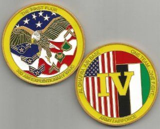 US Army Air Force 380 Expeditionary Wing First Four Al Dhafra AB Challenge Coin