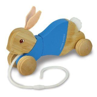 Peter Rabbit Wood Pull Toy Toys & Games
