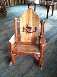 Rustic Sassafras Rocker, Buck Deer Woodburn   Rocking Chairs