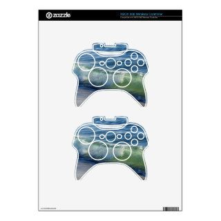 Turquoise Wave Xbox 360 Controller Skins