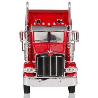 Peterbilt 389/Kenworth W900 Semi Truck Die Cast Toy   1:32 Scale (Red): Sports & Outdoors
