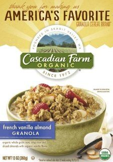 Cascadian Farm Organic Granola Cereal, French Vanilla Almond, 13.0 Ounce (Pack of 6) Grocery & Gourmet Food