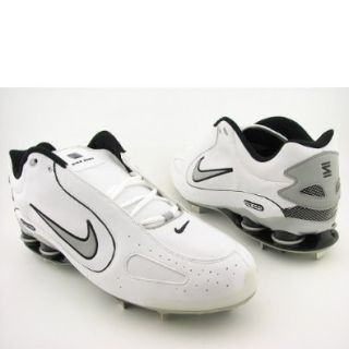 outlet store 6c7f5 b67e1 ... nike shox monster metal baseball cleats 311815 white gray 16 nike . ...