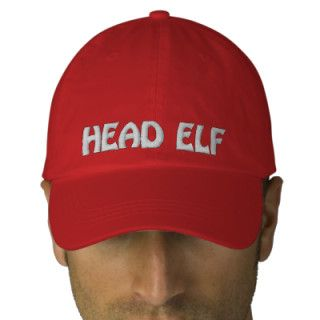 Head Elf Embroidered Christmas Cap/Hat Embroidered Hats