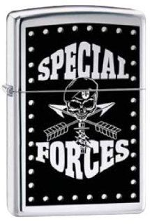 Zippo Custom Lighter   Special Forces Skull Military RARE!: Health & Personal Care