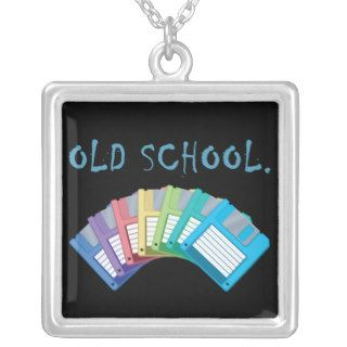 old school floppy disks necklace