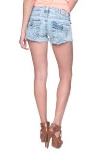 True Religion Jeans Shorts JOEY CUT OFF, Color: Light Blue, Size: 24: Clothing