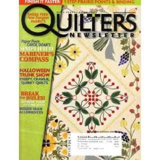 Quilter's Newsletter Magazine (September/October 2008, No. 405, Vol. 39, No. 7) Jan Magee Books