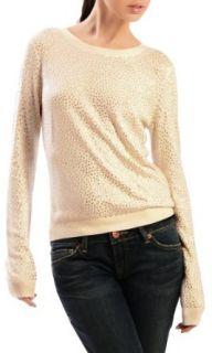 Alice and Olivia Women's Cena Rhinestone Stud Crewneck Sweater White XS Clothing