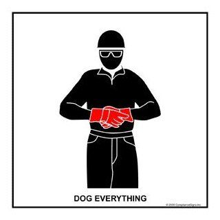 Dog Everything Label CRANE 408 Crane Hand Signals: Office Products