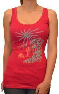 True Religion Brand Jeans Women's Tank Top Shirt Dark Pink Large: Clothing