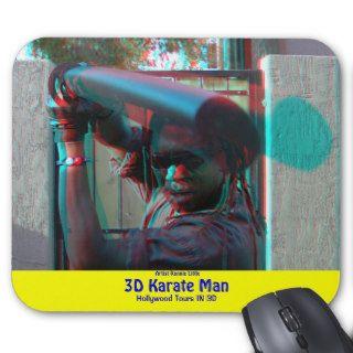 3D Karate Man Mouse Pad Artist Ronnie Little