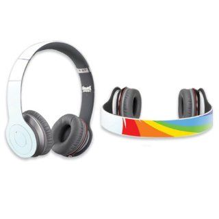 Protective Vinyl Skin Decal Cover for Dr. Dre Beats Solo HD Headphones Sticker Skins Rainbow Flood Electronics