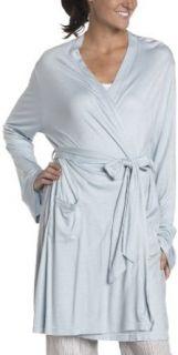 Derek Rose Women's Knit Short Robe   1079 Lens001, Aqua, Small