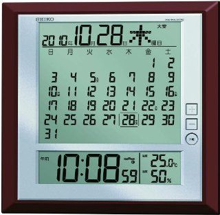 SEIKO CLOCK six day display digital radio clock SQ421B (Seiko clock) wall clock table clock combined monthly calendar function