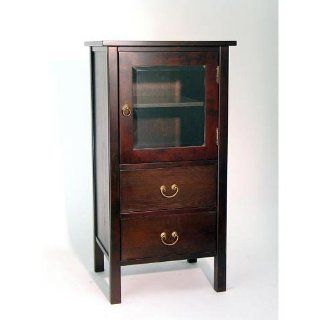 "Rovena Cabinet (Brown) (36""H x 20""W x 16""D)   Curio Cabinets"