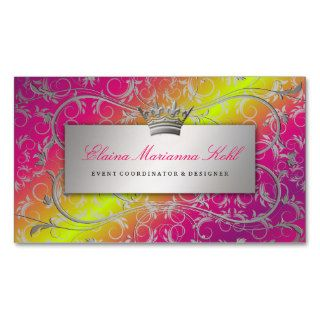 311 Silver Divine Rose Stem Fade Premium Pearl Business Card Template