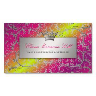 311 Silver Divine Rose Stem Fade Premium Pearl Business Card Template