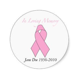 In Loving Memory, Breast Cancer Sticker