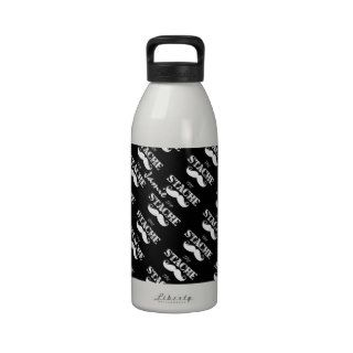The Stache Mustache Retro Hipster Water Bottle