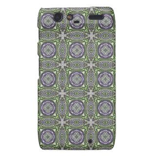 Funky Stars Purple Green Celtic Tattoo Stars Art Droid RAZR Case