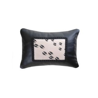 Accessory Pillows Leather with Moose Track Heat Transfer Decorative