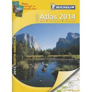 Michelin North America Large Format Atlas 2014   Books & Magazines   Books   All Books
