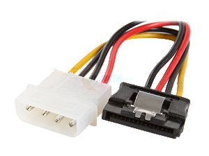 "Rosewill RCW 306 6"" /Serial ATA II 5.25"" Male to 15P Serial ATA Female Power Adapter Cable /Multi Color"