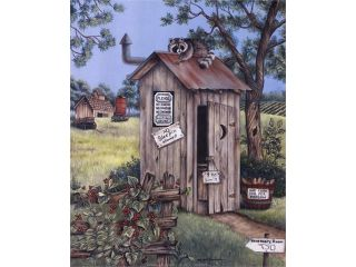 Outhouse   Raccoon Poster Print by Kay Lamb Shannon (8 x 10)