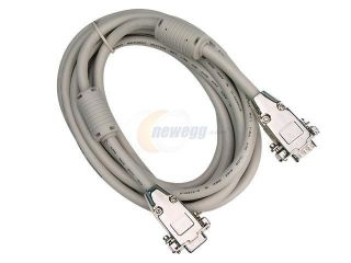 Rosewill 15 ft. VGA / SVGA Male to Female Extension Coaxial Cable w/ Dual Ferrites Cores and Metal Hood Model RCW 804