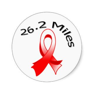 26.2 Miles Marathon Oral Cancer Ribbon Sticker
