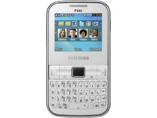Samsung Chat 322 C3222 White Unlocked GSM QWERTY Cell Phone w/ 1.3MP Camera / Dual Sim Card