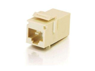 C2G 03674 RJ45 (8P8C) Coupler Keystone Insert Module   Ivory