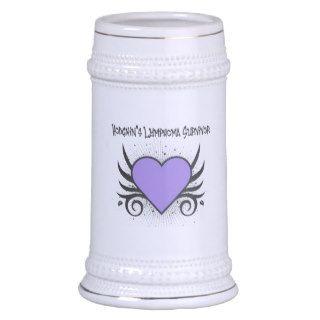 Hodgkin's Disease Survivor Heart Tattoo Coffee Mug