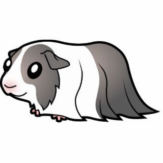 Cartoon Guinea Pig (silver dutch) Acrylic Cut Out
