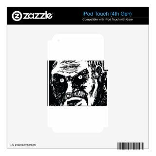 Angry Dark Stare Meme Face iPod Touch 4G Decal