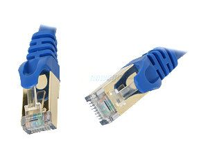 Rosewill RCW 3 CAT7 BL 3 ft. Cat 7 Blue Color Shielded Twisted Pair (S/STP) Networking Cable