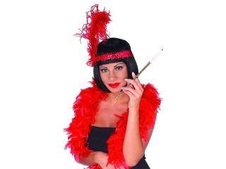 Female Flapper 20'S Long Silver Sparkle Cigarette Holder Costume Prop