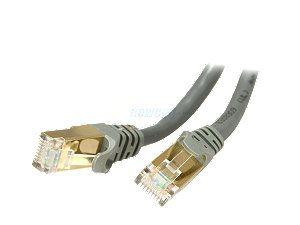 Rosewill RCW 15 CAT7 GE 15 ft. Cat 7 Grey Color Shielded Twisted Pair (S/STP) Networking Cable
