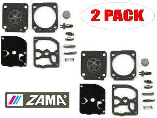 Genuine Zama RB 127 Carburetor C1M H58 Repair Kit for Homelite 45cc Chainsaw (2 Pack)   Parts & Accessories