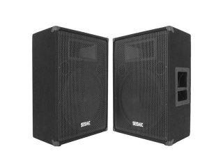 "Seismic Audio   FL 15MP (Pair)   15"" FLOOR MONITORS   400 Watts RMS   Stage/Studio PA/DJ Speakers"