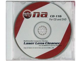 NEW NIPPON CD116 CD AND DVD PLAYER LENS CLEANER DOUBLE DENSITY FOR CD ROM DRIVES
