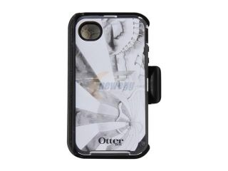 OtterBox Defender Gray / White Fantasy Case For iPhone 4/4S 77 20437