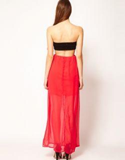 Reverse  Vestido largo palabra de honor con espalda descubierta de Reverse en